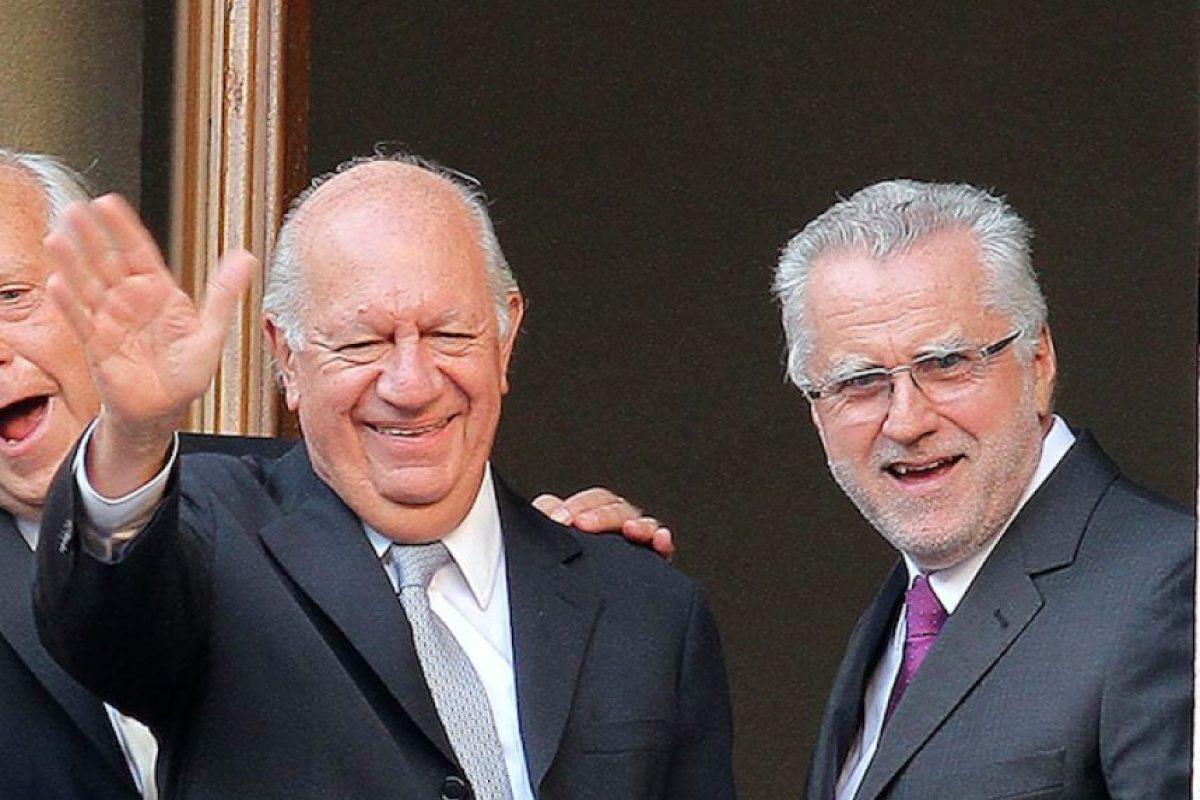 Ricardo Lagos agradeció a Bachelet por aceptar la renuncia de Máximo Pacheco, quien ahora se sumó a su equipo. Foto:Agencia UNO. Imagen Por: