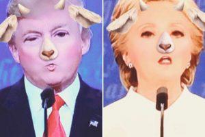 Hubo quienes estuvieron diviertiéndose con los filtros de Snapchat Foto:Twitter.com. Imagen Por:
