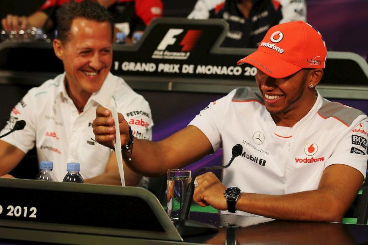 Hamilton reveló que su compañero de equipo en 2013, Michael Schumacher, lo hacía en todas las carreras Foto:Getty Images. Imagen Por: