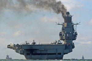 El portaaviones Almirante Kuznetsov. Foto:Facebook Dover-Marina.com. Imagen Por: