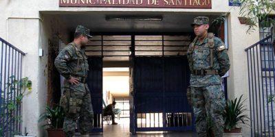 Militares resguardan lugares de votación para las elecciones municipales