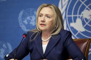 Hillary Clinton en la ONU, cuando era secretaria de Estado de EEUU. Foto:Efe. Imagen Por:
