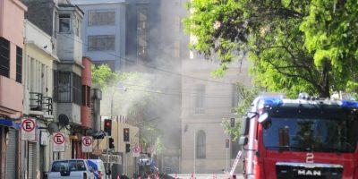 Fuga de gas en el centro de Santiago provoca la evacuación y suspensión de la Feria del Libro