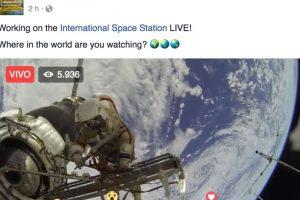 """En algunas páginas se anunciaron como """"la primera transmisión en Facebook desde el espacio"""" Foto:Facebook. Imagen Por:"""
