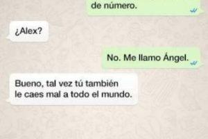 De las peores cosas que les pueden pasar: alguien les da su número para que le manden WhatsApp… pero, ¡sorpresa! Se los dio mal. Foto:Facebook. Imagen Por: