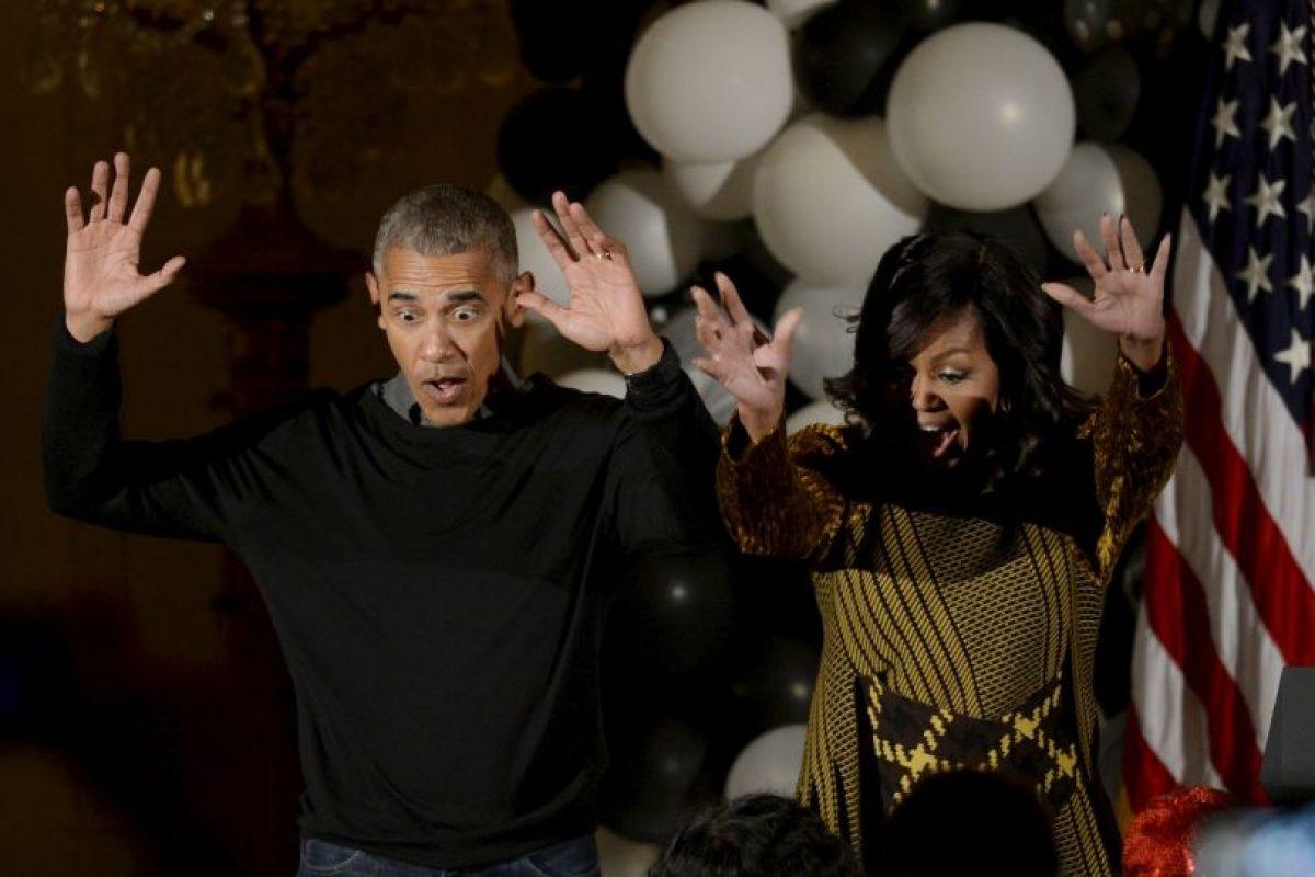 """Los Obama se lucieron bailando """"Thriller"""" de Michael Jackson. Imagen Por:"""