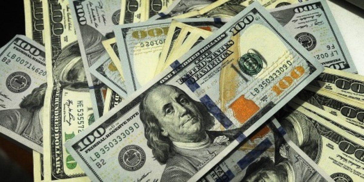 Dólar se mantiene bajo los 650 pesos