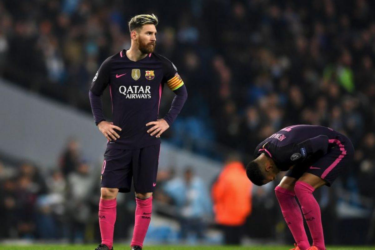 Luego de la derrota ante Manchester City, Lionel Messi se habría enfrentado con los jugadores locales. Foto:Getty Images. Imagen Por:
