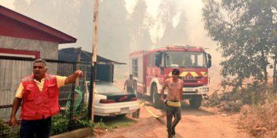 Incendio forestal en Concón: llamas consumen cinco viviendas y evacuan a vecinos de Fuerte Aguayo