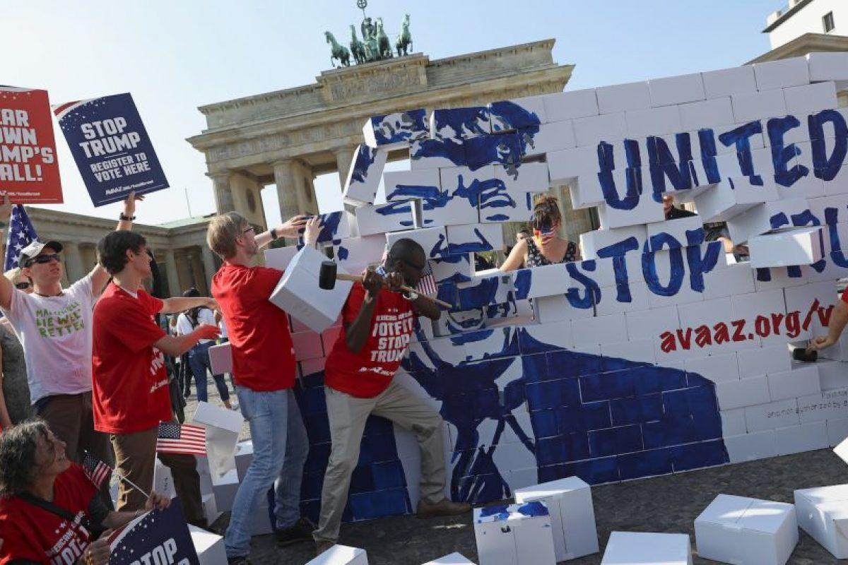El candidato presidencial pretende construir un muro en la frontera con México Foto:Getty Images. Imagen Por: