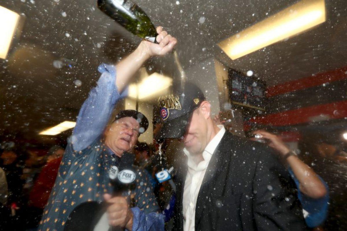 Bill Murray fue bañado en champaña Foto:Getty Images. Imagen Por: