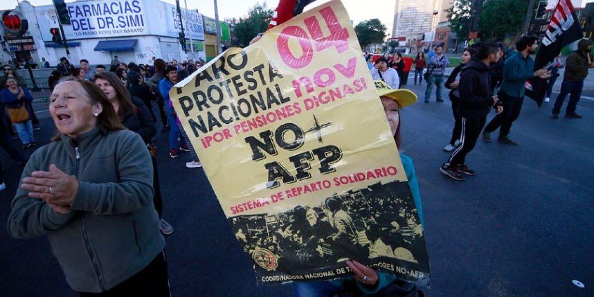 """Vocero de """"No+AFP  y quema de buses:"""