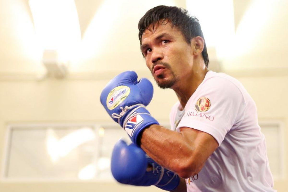Manny Pacquiao buscará ser el primer senador y campeón Foto:Getty Images. Imagen Por: