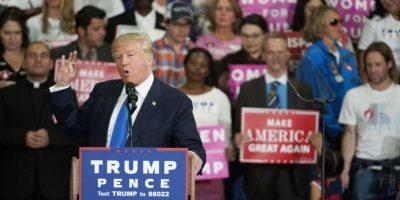 Trump fue evacuado del escenario por falsa alerta en Nevada