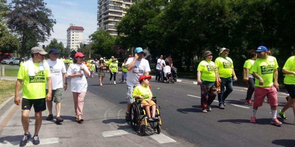Exitosa caminata por la inclusión en Las Condes