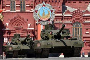 El tanque ruso T-14 Armata en el desfile por la victoria soviética sobre los nazis en 2015. Foto:AFP. Imagen Por: