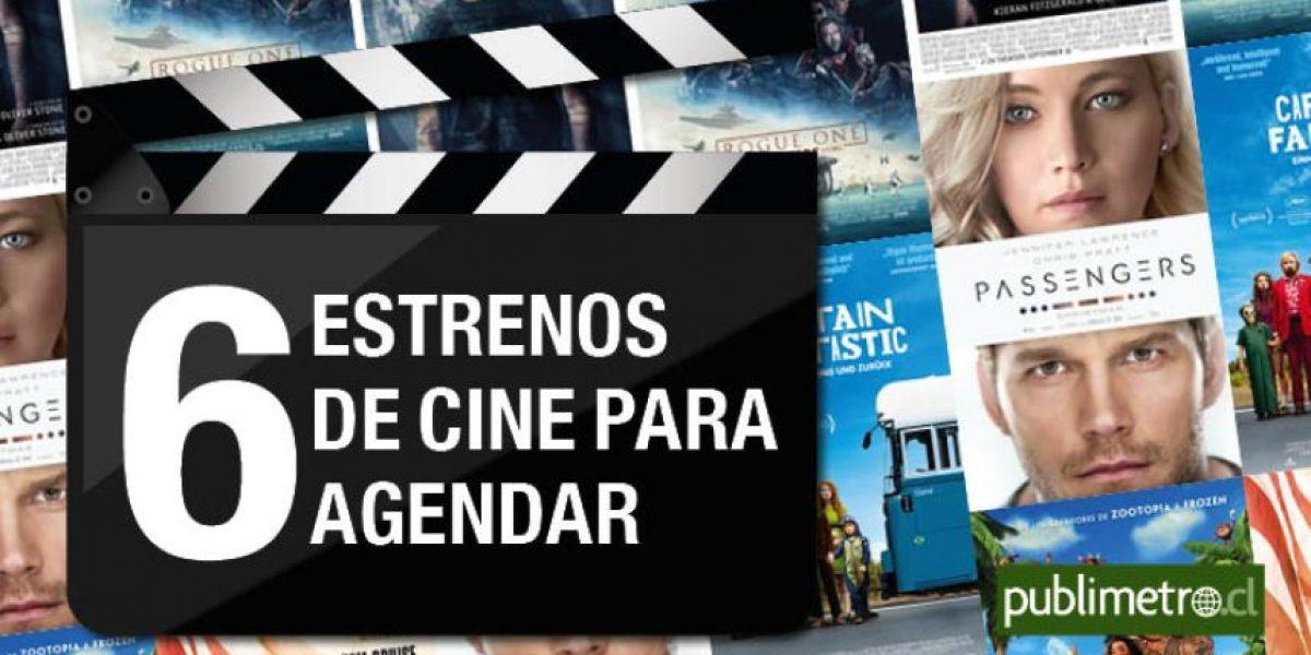Infografía: 6 estrenos de cine para agendar