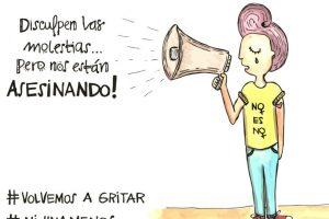 #NiUnaMenos Foto:Twitter.com/jopidibuja. Imagen Por: