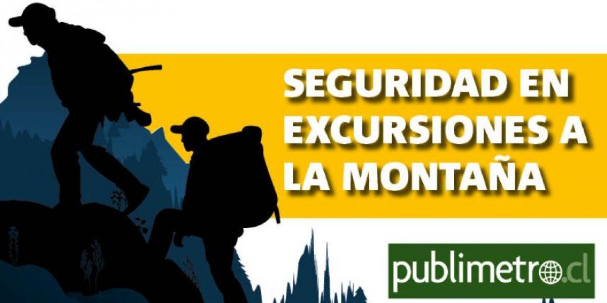 Infografía: seguridad en excursiones a la montaña