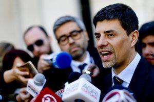 El Ministro Marcelo Díaz anunció que se suspendería el Comité Político de hoy. Foto:Agencia UNO. Imagen Por: