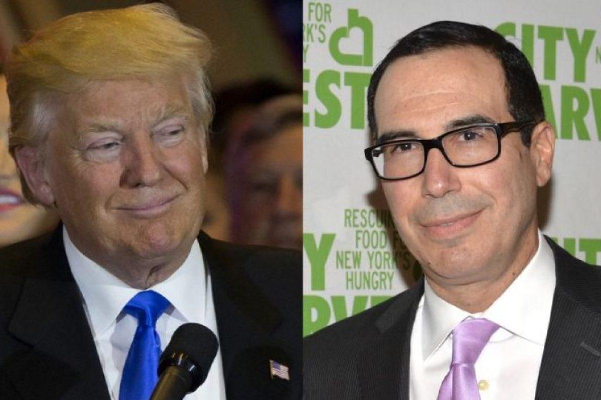 Donald Trump y Steven Mnuchin, asesor financiero de campaña y posible secretario del Tesoro. Foto:AFP. Imagen Por: