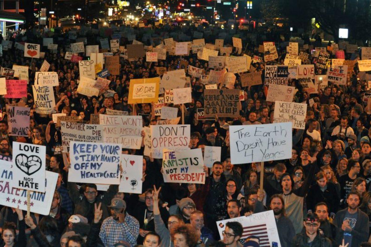 Se registraron movilizaciones en Baltimore, Chicago, Denver, Dallas y otras ciudades en horas de la noche. Foto:Afp. Imagen Por: