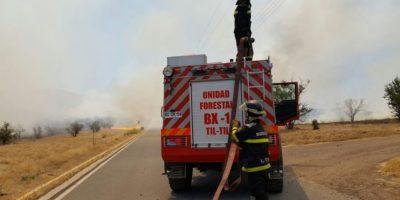 Tránsito reestablecido en la Ruta 5 Norte tras corte por incendio de pastizales en Til Til