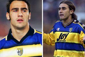 Fabio y Paolo Cannavaro: Compartieron equipo y camarín cuando se encontraron en Parma. Foto:Getty Images. Imagen Por: