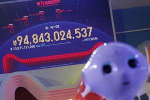 Como en una especie de Teletón, había una pantalla mostrando las ganancias en tiempo real Foto:AFP. Imagen Por: