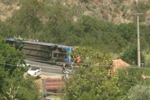 Los heridos de mayor gravedad serán trasladados en helicóptero a Santiago. Foto:Reproducción Twitter. Imagen Por: