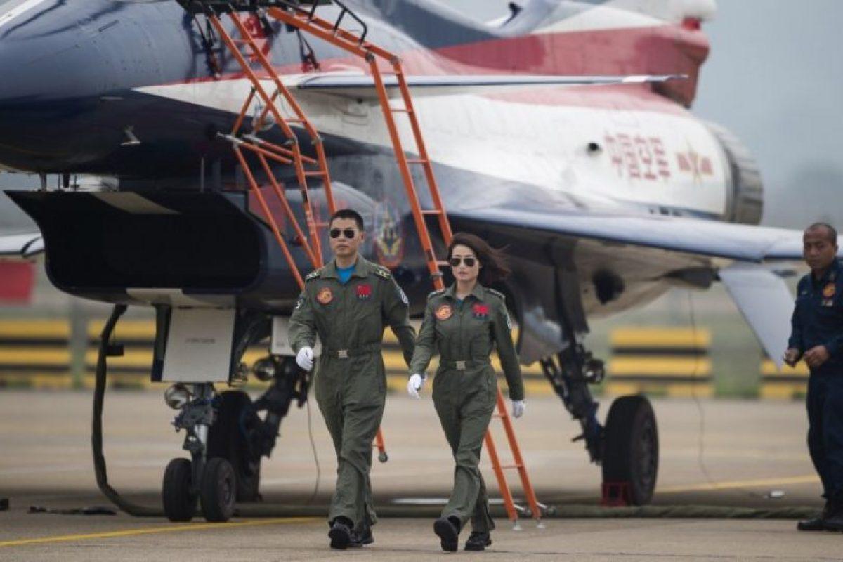 Yu Xu fue una de las primeras mujeres en convertirse en piloto de guerra en China. Foto:AFP. Imagen Por:
