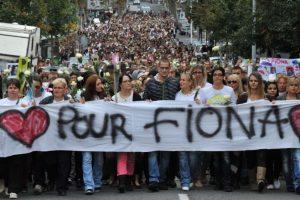 Marcha por Fiona en 2013, encabezada por su madre y su pareja de entonces. Foto:AFP. Imagen Por: