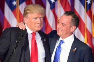 Reince Priebus con Donald Trump. Foto:AFP. Imagen Por:
