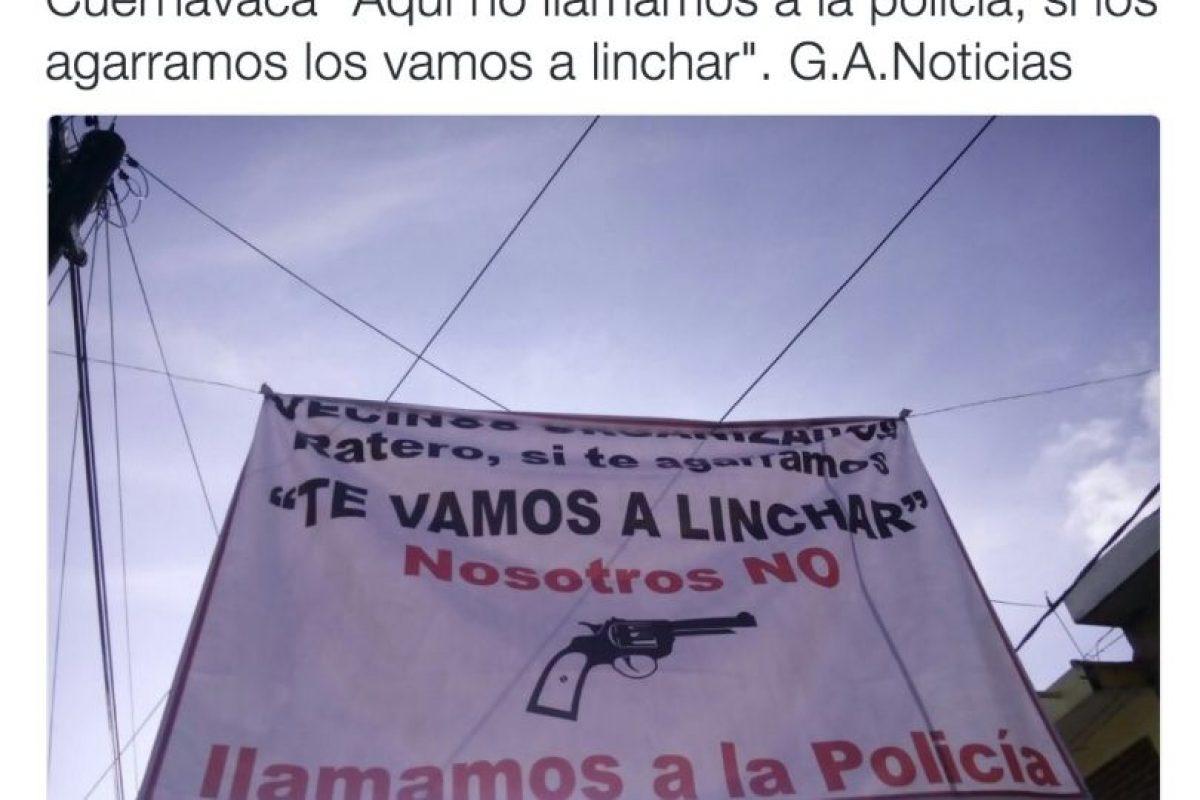 """En las que se advierte del uso de """"justicia"""" por propia mano Foto:Twitter.com. Imagen Por:"""