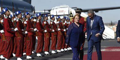Bachelet arriba a Marruecos para participar en cumbre de la ONU sobre cambio climático