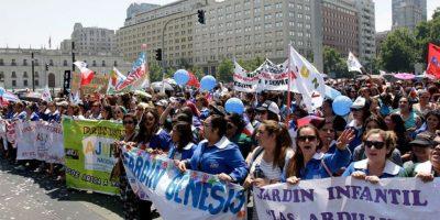 Miles de trabajadores públicos repletaron la Alameda y varias ciudades del país