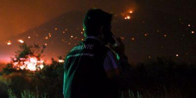 Orrego por incendio en Quebrada de la Plata: