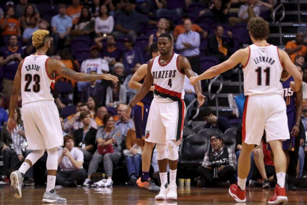 6.- Portland Trail Blazers (NBA) – 7,389,296 millones de dólares de sueldo anual en promedio Foto:Getty Images. Imagen Por: