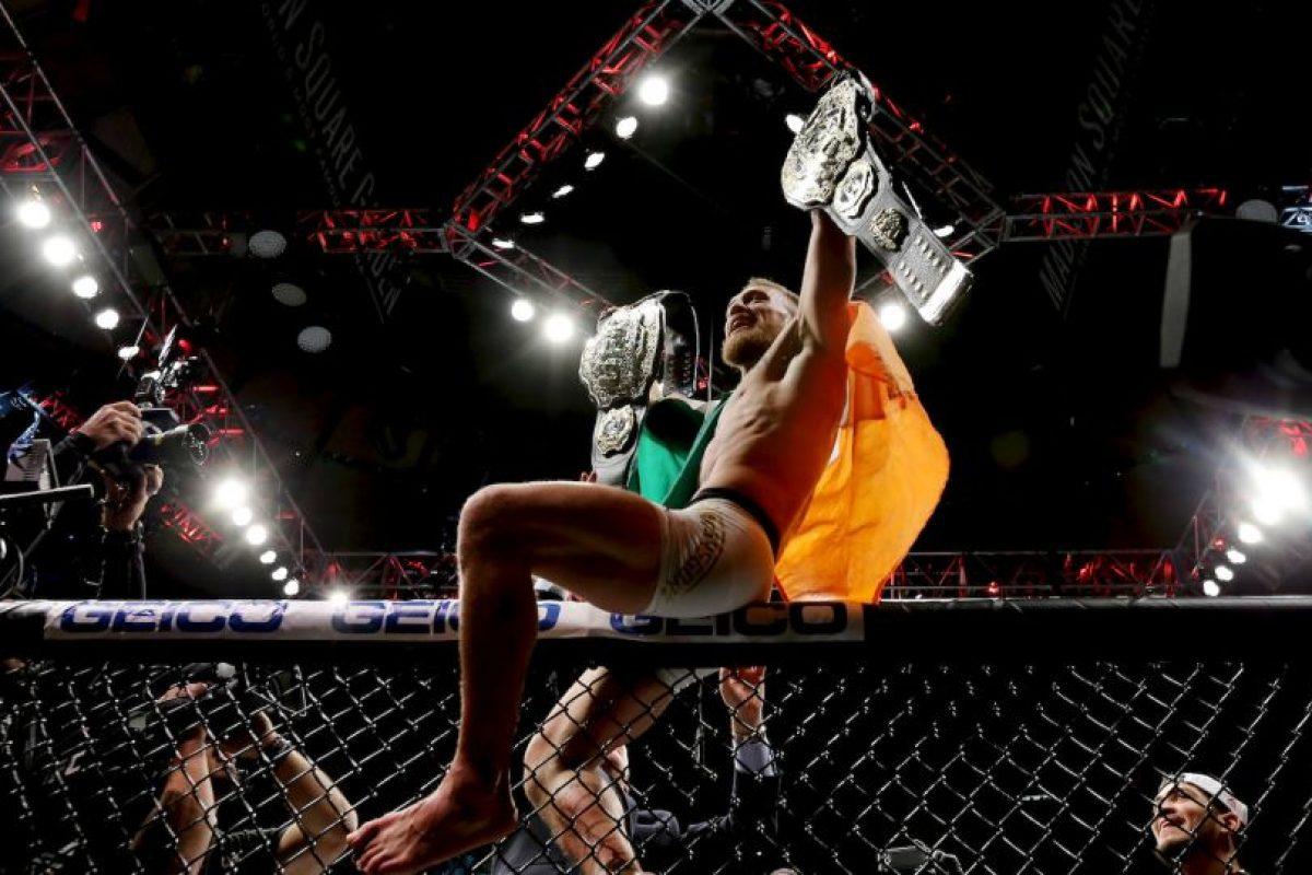 Conor McGregor viene de ganar el título de Peso Ligero al vencer a Eddie Álvarez Foto:Getty Images. Imagen Por: