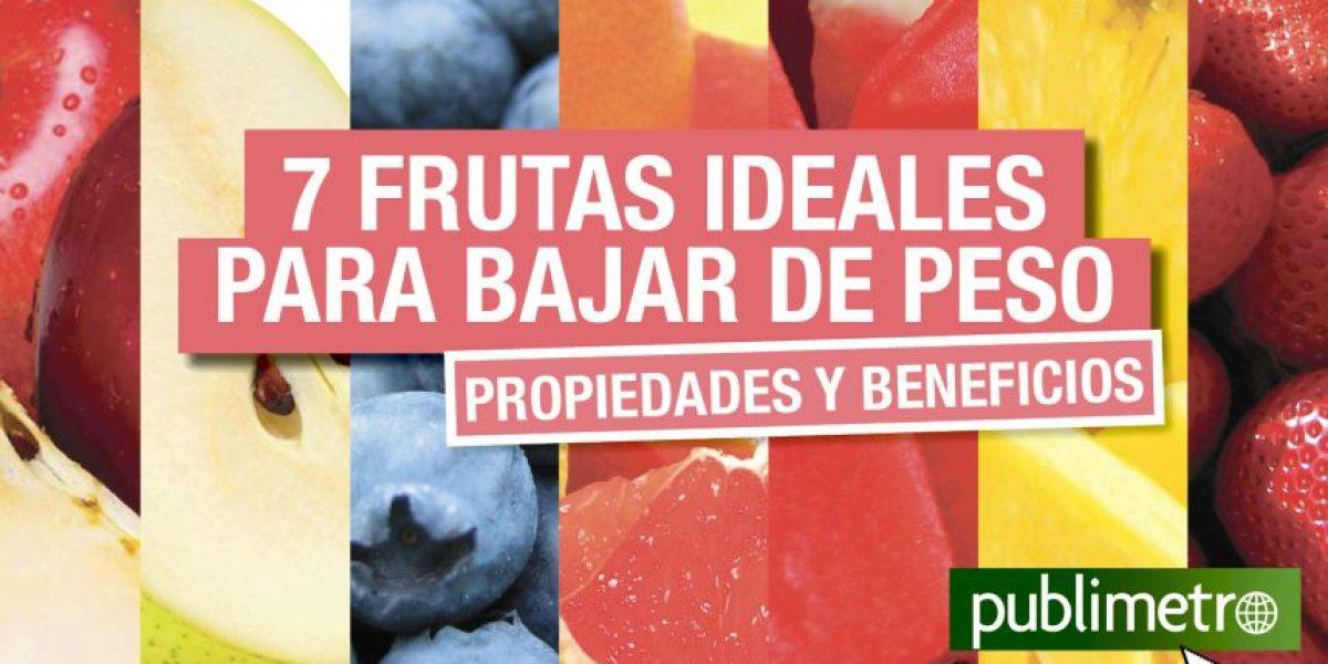 Infografía: 7 frutas ideales para bajar de peso