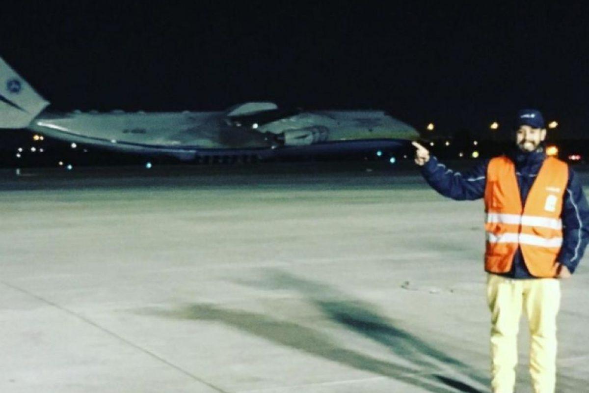 El Antonov 225 venía proveniente de Brasil con equipos para la empresa eléctrica Colbún. Foto:Reproducción Twitter. Imagen Por: