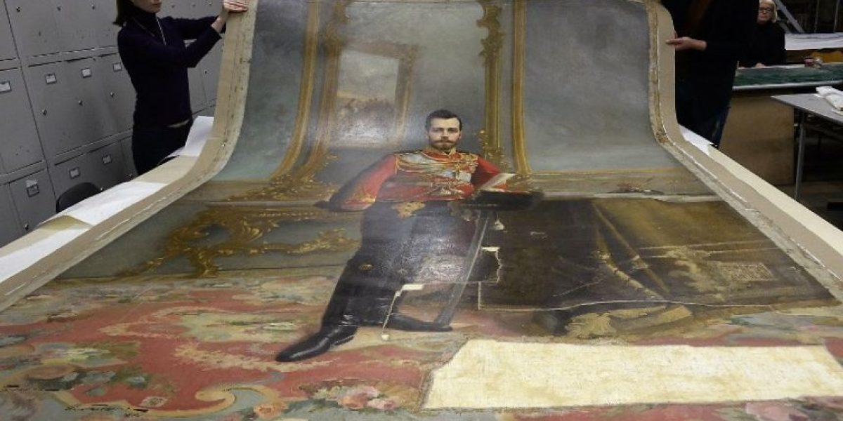Exhiben retrato del último zar de Rusia escondido en un cuadro de Lenin