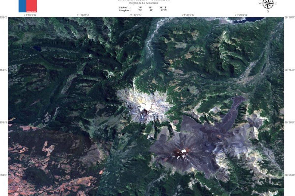 Las imagenes fueron compartidas por el Sernageomin y en ellas se pueden apreciar las dimensiones de cada volcán. Foto:Reproducción Sernageomin. Imagen Por: