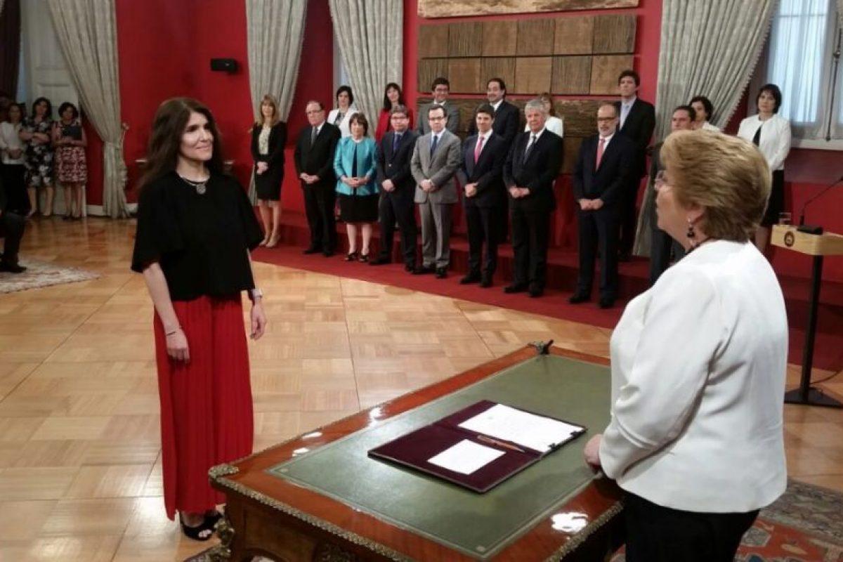 Paula Narváez Foto:Twitter @presidencia_cl. Imagen Por: