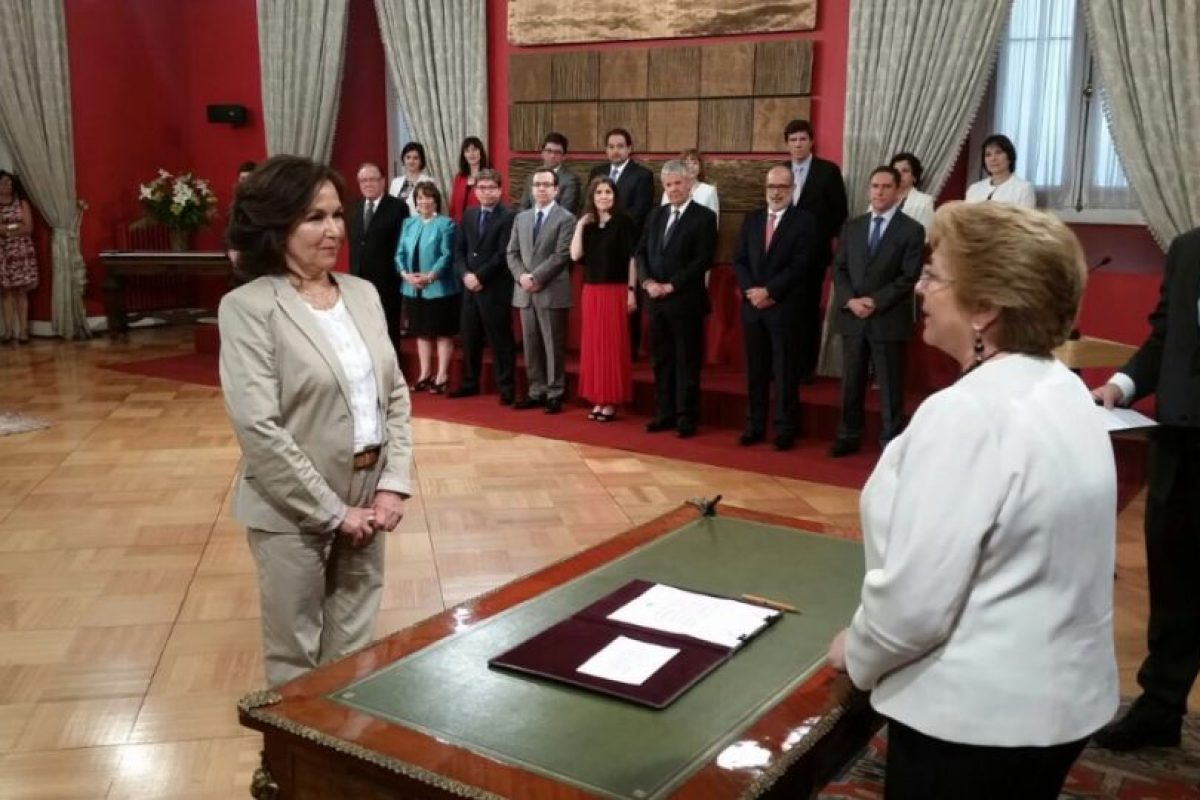 Alejandra Krauss Foto:Twitter @presidencia_cl. Imagen Por: