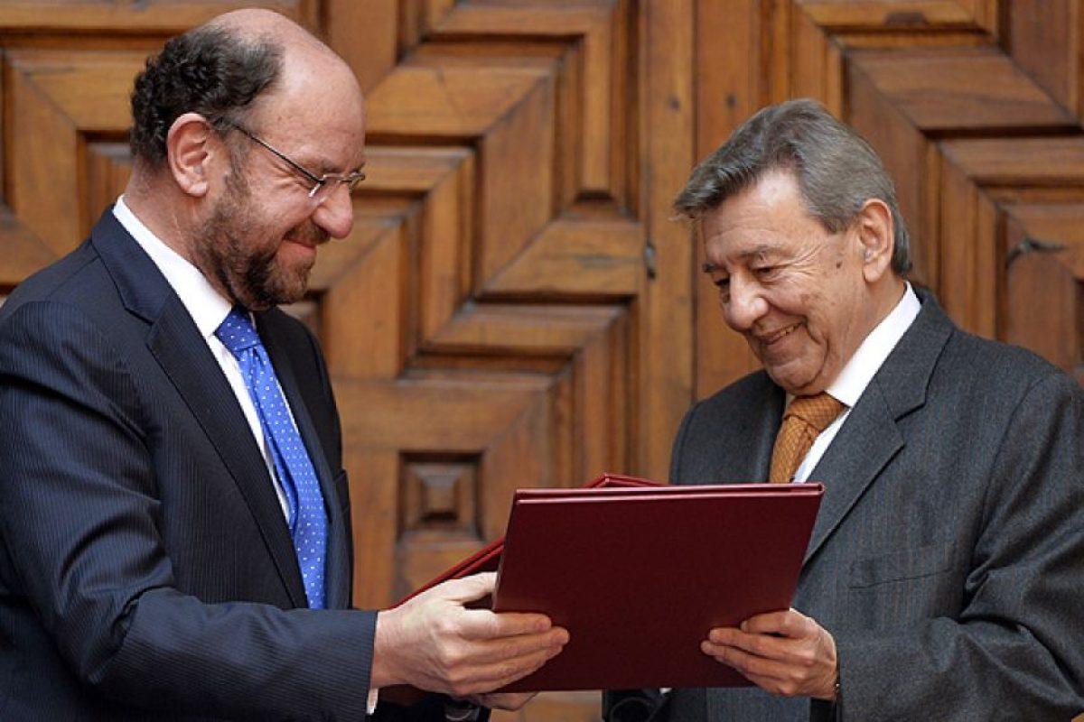 Roncagliolo junto al ex canciller Alfredo Moreno. Foto:AFP. Imagen Por: