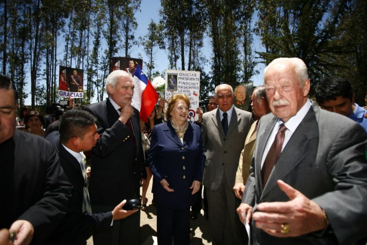 La viuda de Pinochet se encunetra internada con diagnóstico de carcater reservado. Foto:Agencia UNO. Imagen Por: