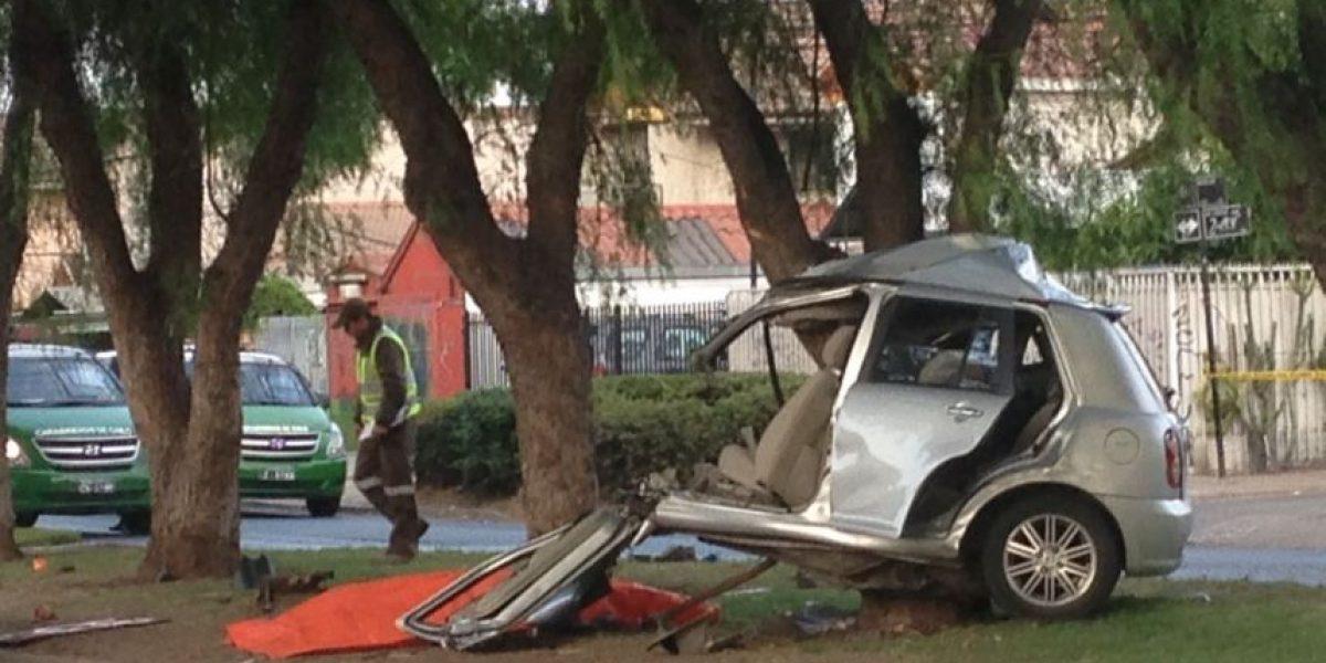 Hombre murió tras chocar con un árbol en Maipú