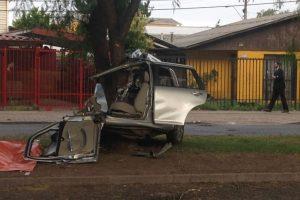Carabineros investiga si el conductor viajaba a exceso de velociad y bajo la influencia del alcohol. Foto:Rodrigo Fuentes / Publimetro. Imagen Por: