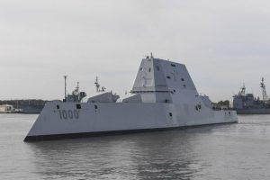 El destructor USS Zumwalt, de US$ 4.000 millones. Foto:AFP. Imagen Por:
